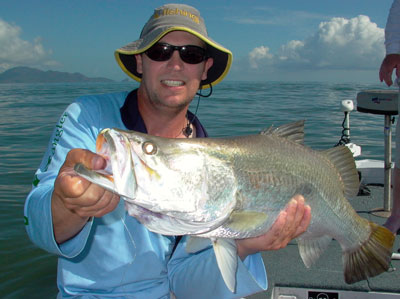 Stephen Booth with Hinchinbrook barra